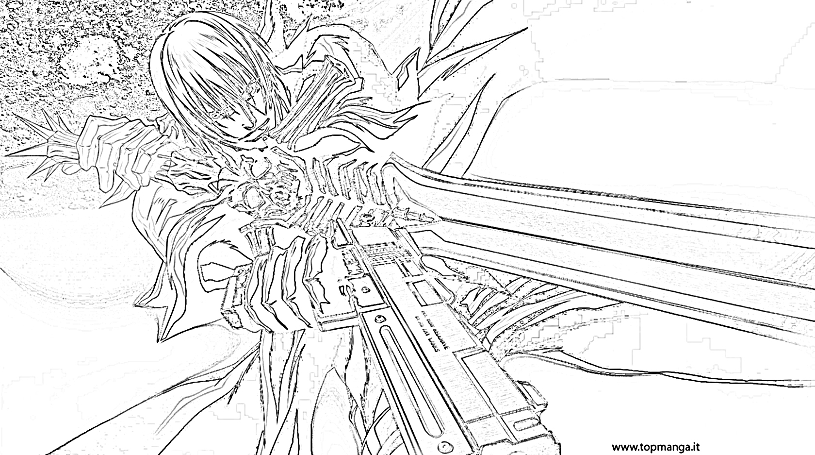 devil may cry coloring pages - photo#22