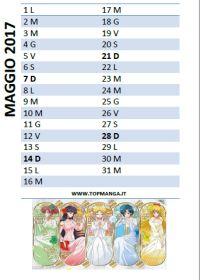 calendario anime manga 2017