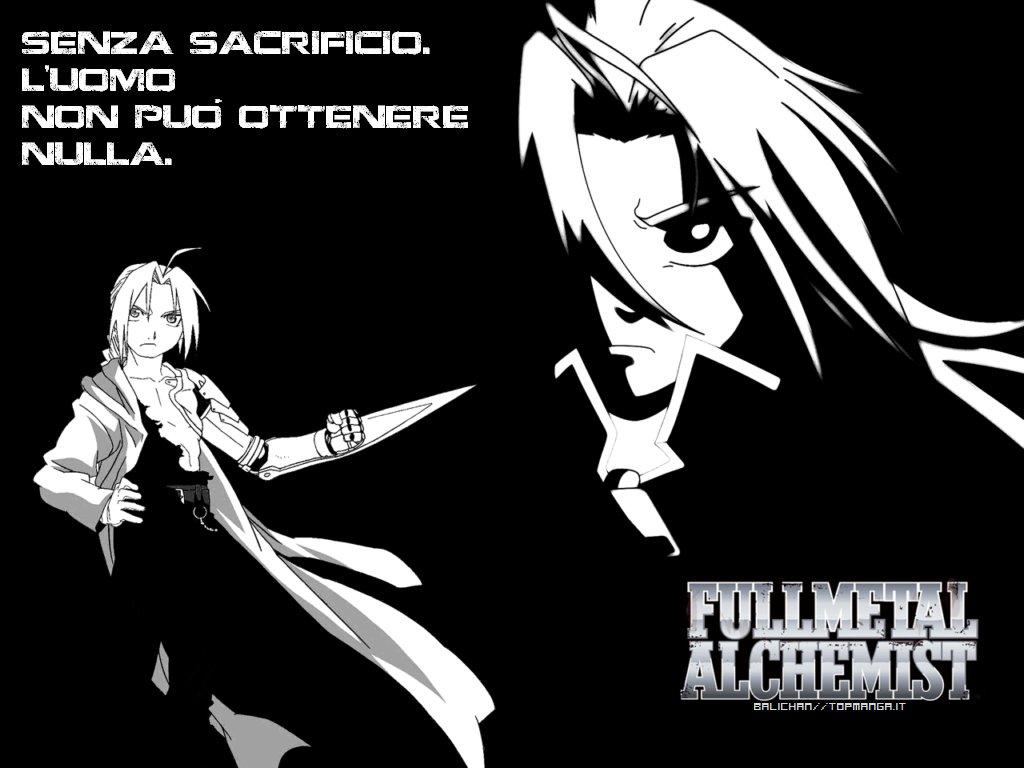 Risultati immagini per frasi full metal alchemist manga