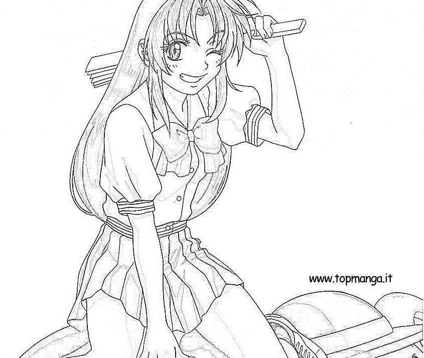 Immagini Da Colorare Di Full Metal Panic Topmanga Anime E Manga