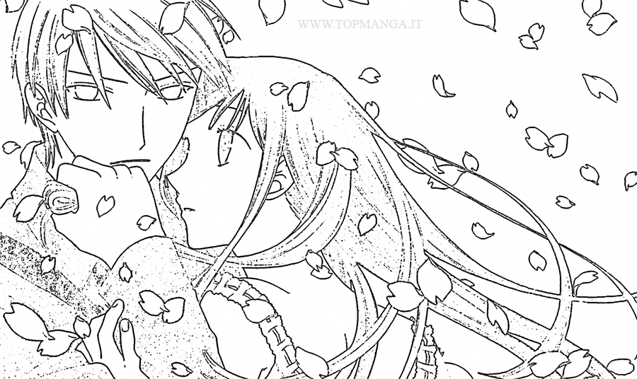 fruits basket yuki coloring pages - photo#17
