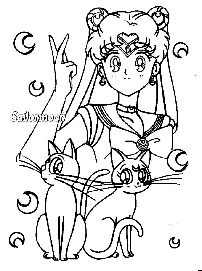 Immagini da colorare di sailor moon topmanga anime for Immagini di ballerine da colorare
