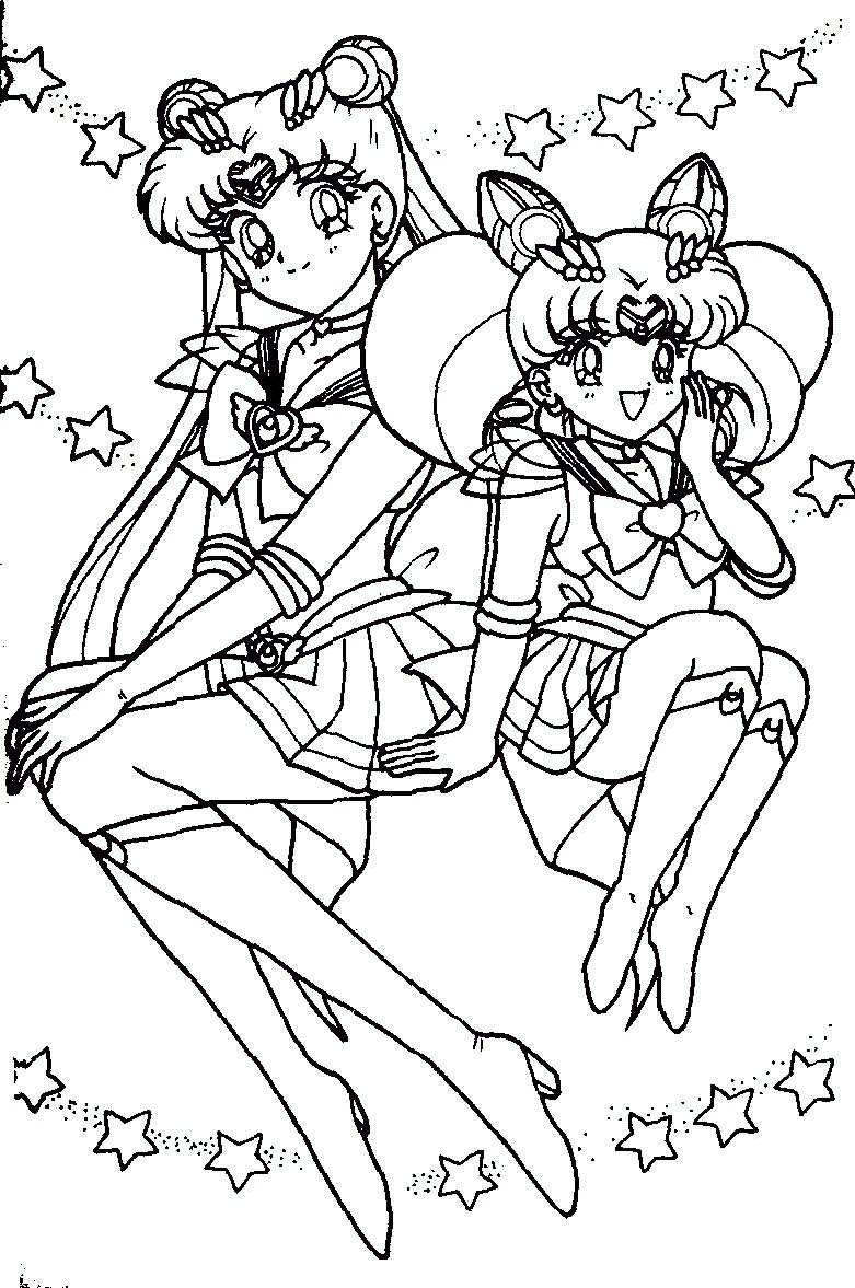 Immagini Da Colorare Di Sailor Moon Topmanga Anime E Manga