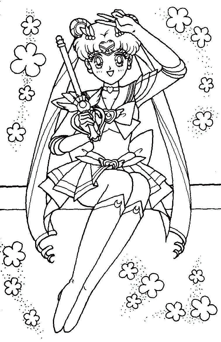 Immagini da colorare di sailor moon topmanga anime - Immagini di aquiloni per colorare ...