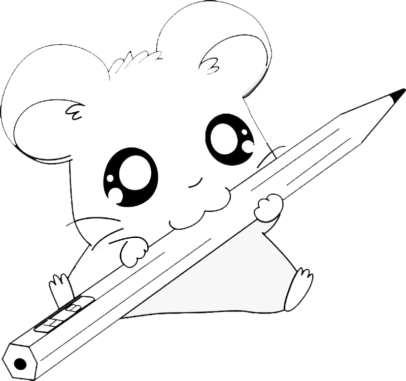 Immagini da colorare di hamtaro anime e manga topmanga for Disegni kawaii facili