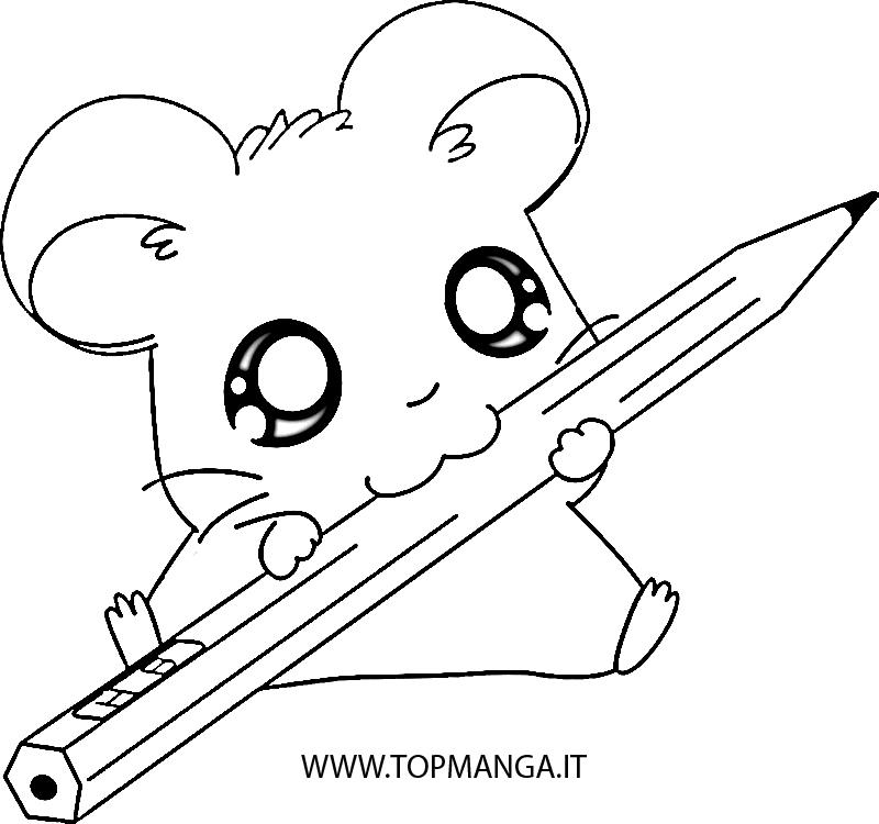 Immagini da colorare di hamtaro topmanga anime e manga for Immagini disegni facili
