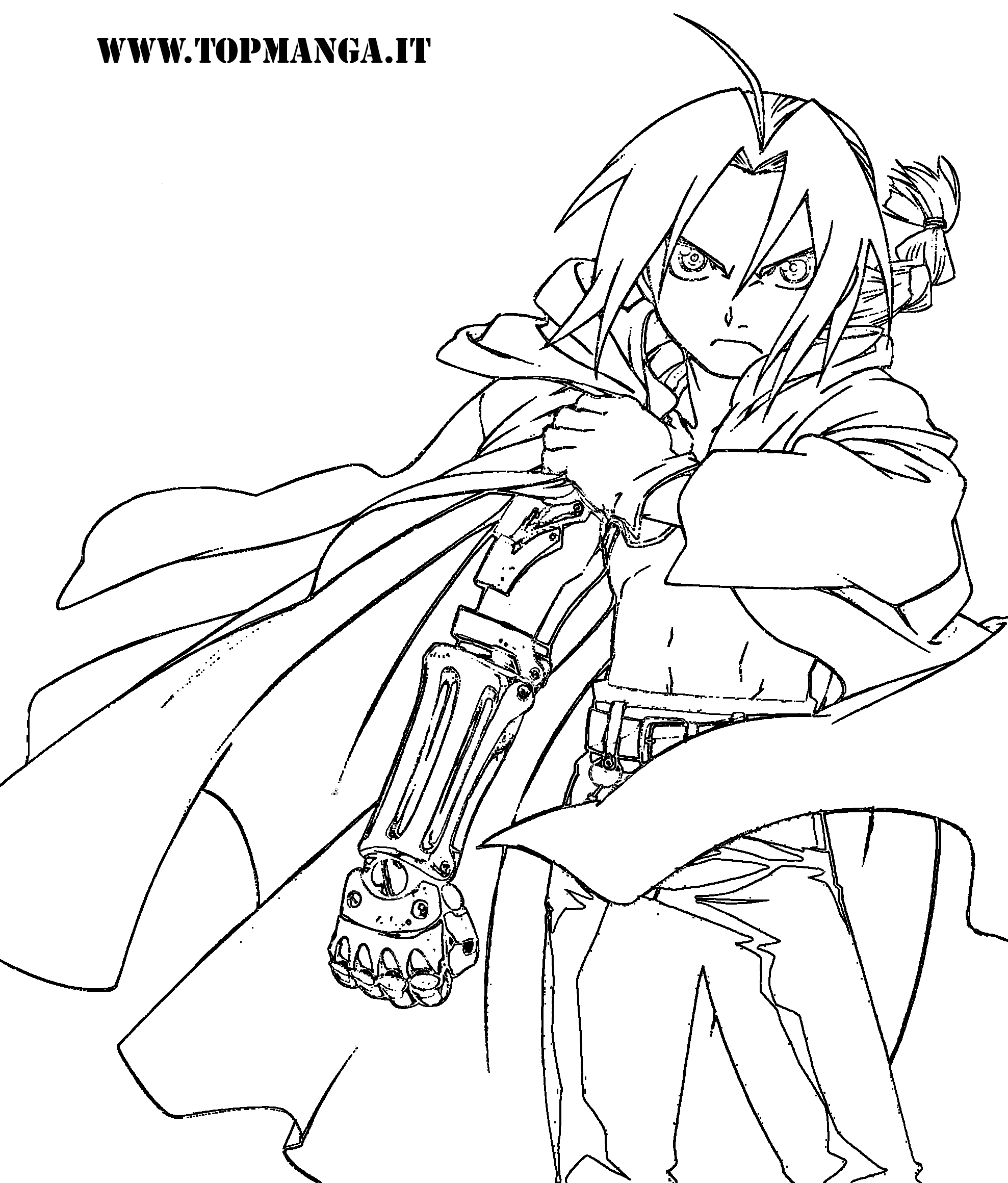 free fullmetal alchemist coloring pages - photo#7