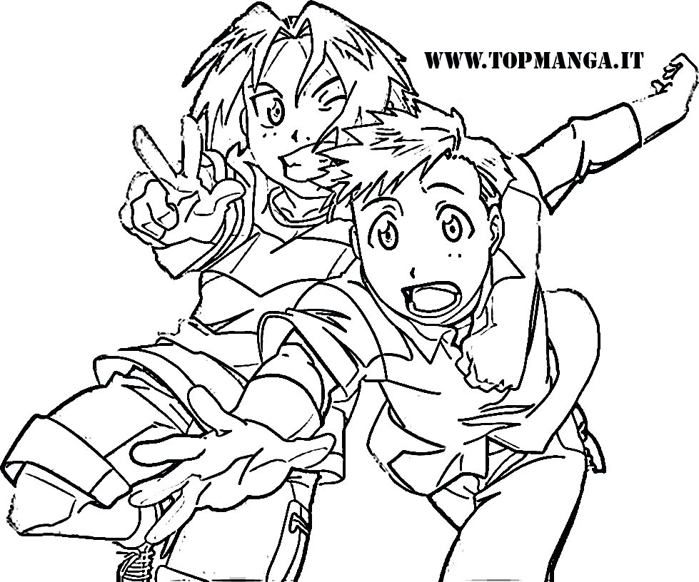 free fullmetal alchemist coloring pages - photo#25