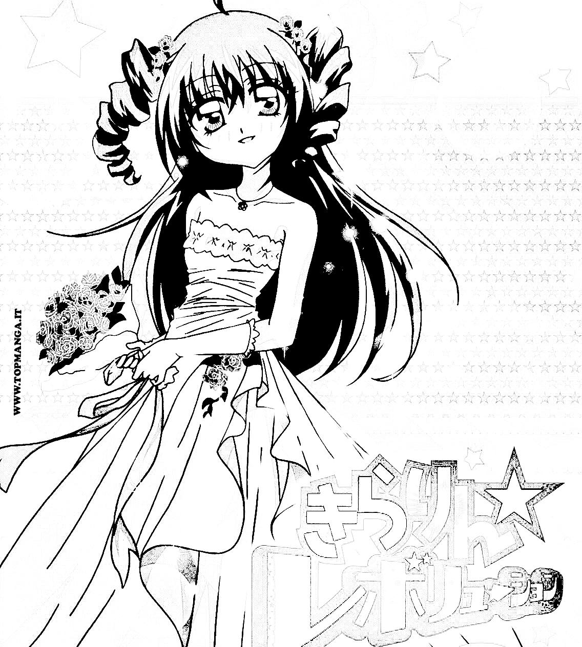 Disegni Ragazze Manga Da Colorare Migliori Pagine Da Colorare E