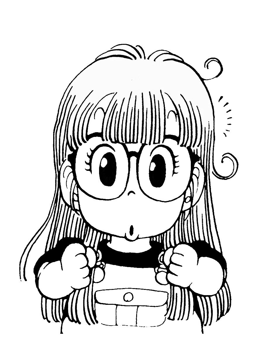 Immagini da colorare di arale anime e manga topmanga - Immagini francesi da stampare ...