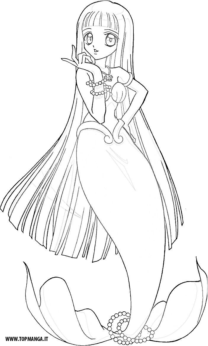 Immagini Da Colorare Di Mermaid Melody Principesse