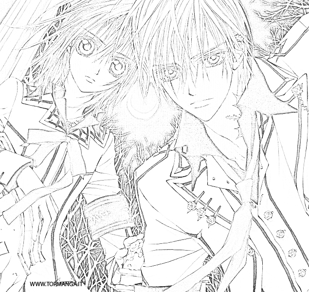 vampire anime coloring pages - photo#32