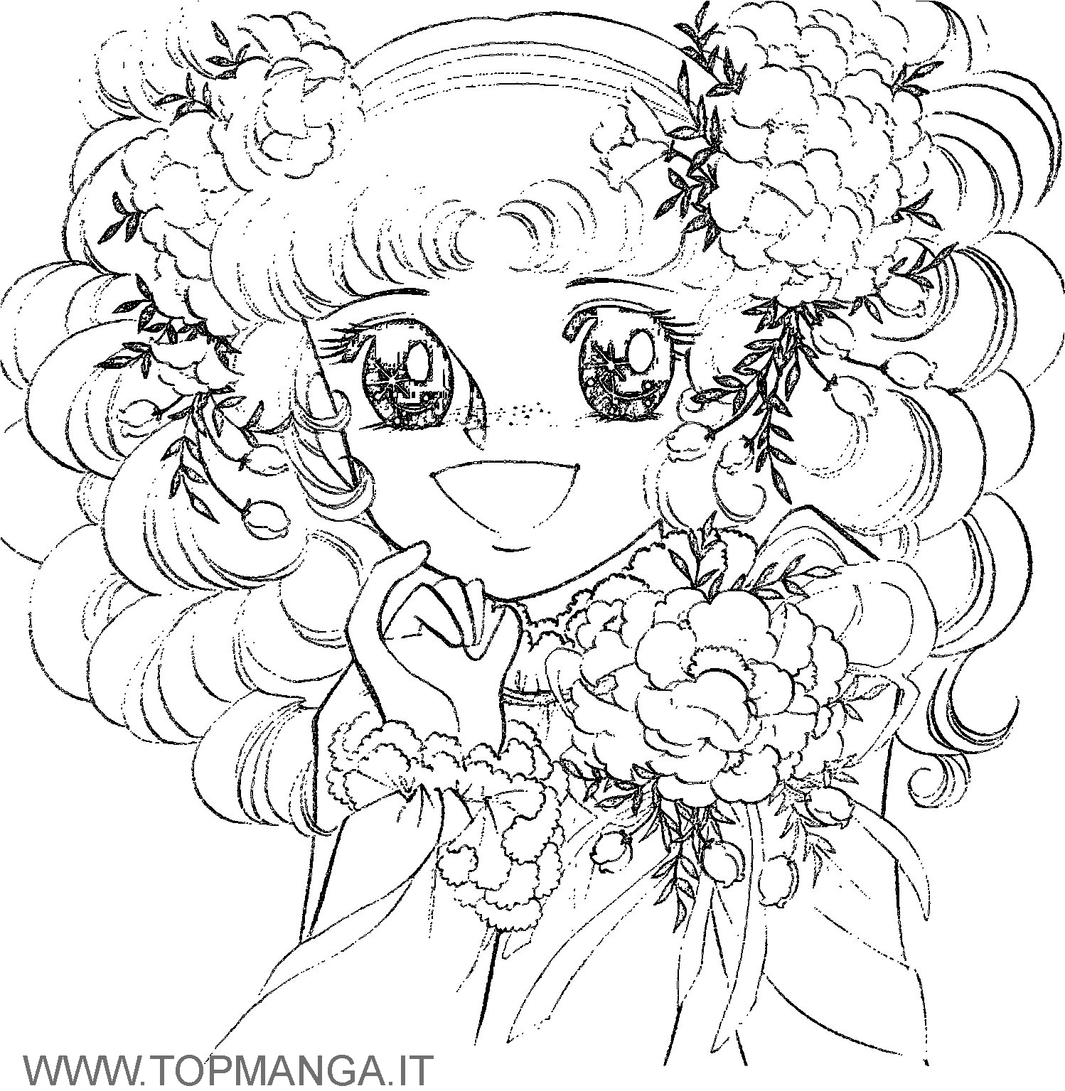 anime candy coloring pages - photo#1