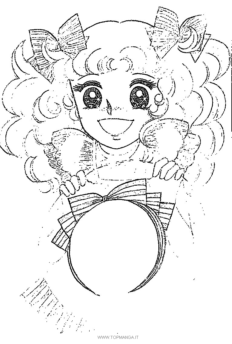 anime candy coloring pages - photo#19