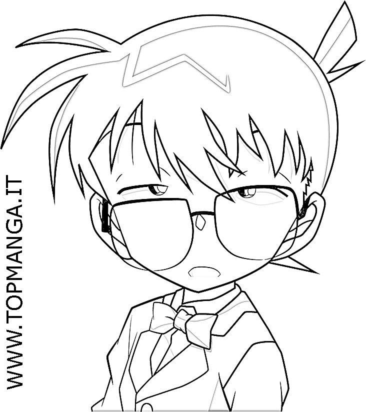 Immagini Da Colorare Di Detective Conan Topmanga Anime E Manga