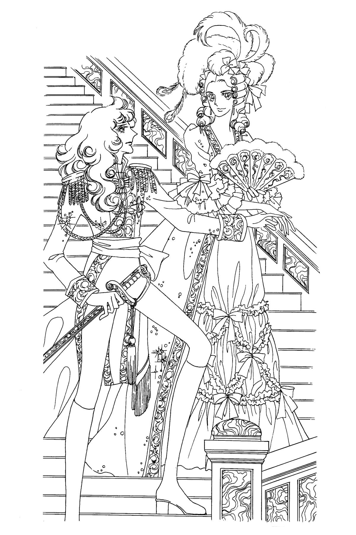 Immagini da colorare di lady oscar topmanga anime - Immagini di colorare le pagine del libro da colorare ...