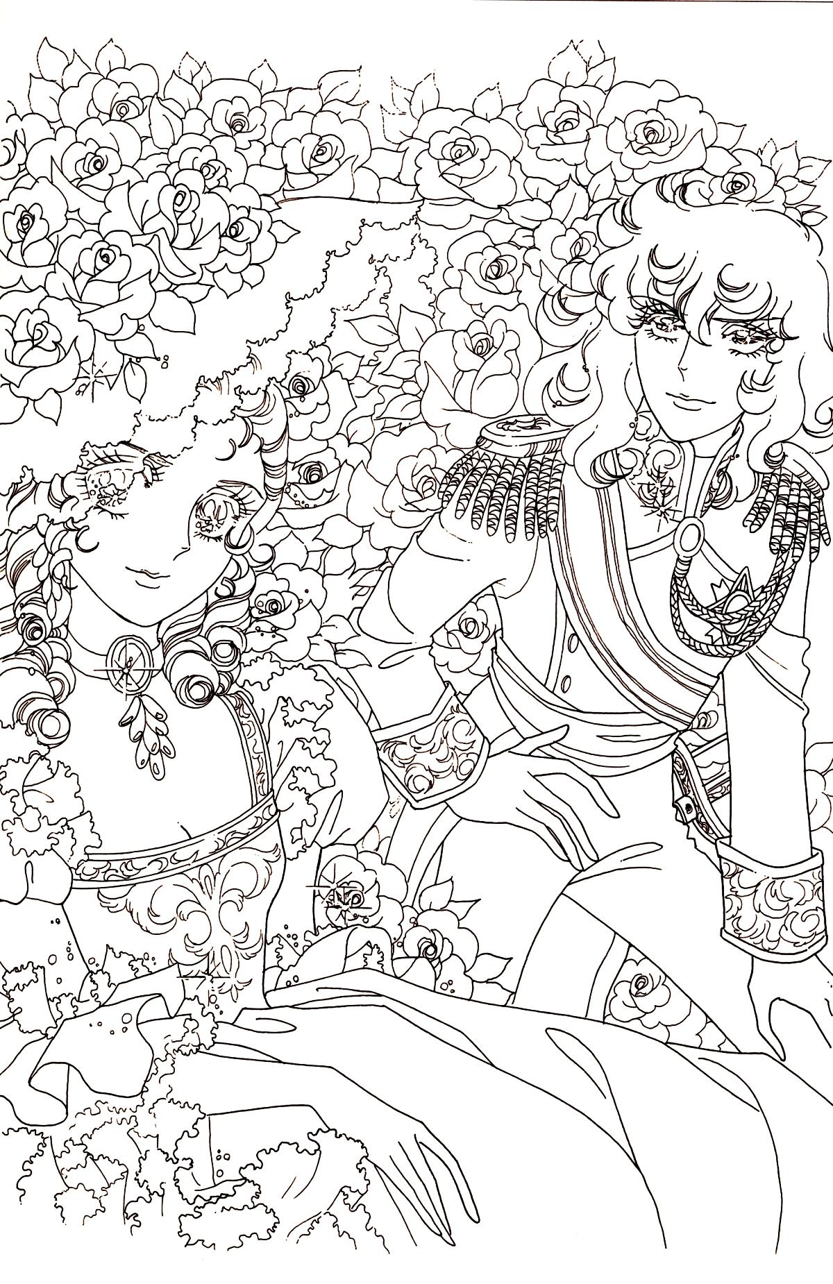 Immagini da colorare di lady oscar topmanga anime - Immagini di aquiloni per colorare ...
