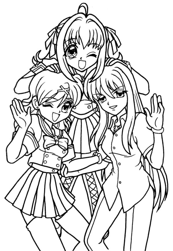 chibi melody coloring pages - photo#17