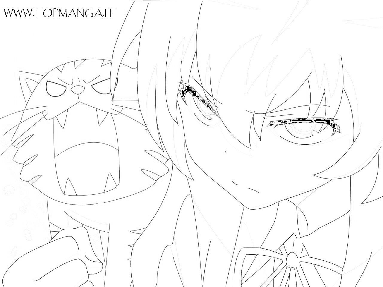 Immagini Da Colorare Di Toradora Topmanga Anime E